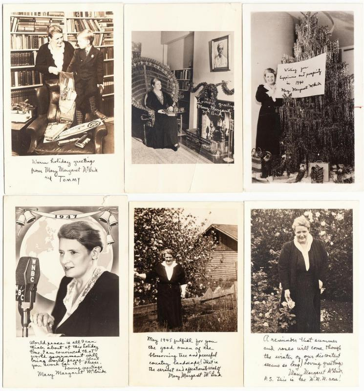 Mary Margaret McBride Radio Show Lot of 12 Real Photo Postcards 1938-1952