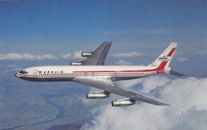 Wardair Canada (1975) Ltd. Boeing 707-320C Jet in flight, 40-60s