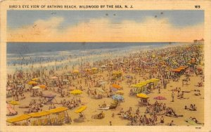 Bird's Eye View of Bathing Beach in Wildwood-by-the Sea, New Jersey