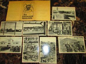 8 Mint East Germany DDR Sachsenhausen Concentration Camp Museum Postcard Set KZ