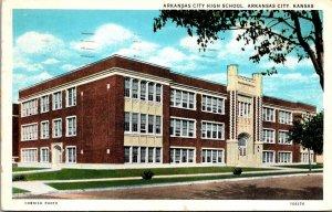 Kansas Arkansas City High School 1938 Curteich