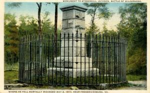 VA - Fredericksburg. Stonewall Jackson Monument (Virginia)