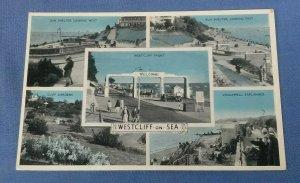 Vintage Multiview Postcard Westcliffe-On-Sea Essex G1F