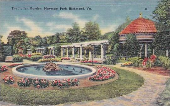 The Italian Garden Maymont Park Richmond Virginia 1944