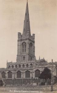 Stamford All Saints Church Antique Real Photo Postcard