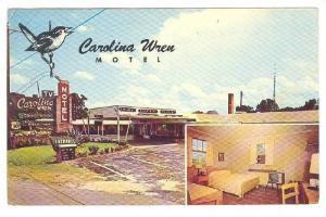 View of Carolina Wren Motel, North of Orangeburg,  South Carolina,  PU-40-60s