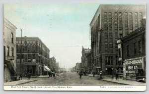 Des Moines IA~E 5th Street @ Locust~Harness~Kelly-Heggen Shoe~1910 CU Williams