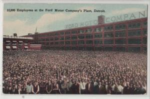 12,000 Employees, Ford Motor Co Plant, Detroit MI