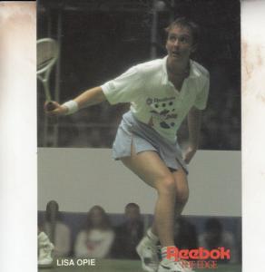 Lisa Opie British Squash Tennis Champion Rare Photo Plain Back Postcard