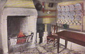Scotland Alloway Ayr Burns Cottage Interior Showing Fireplace