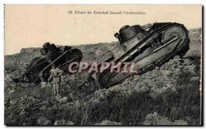 Old Postcard Tanks faisaint the & # 39instruction Army