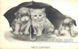 Artist Katherine Gassaway, Cat Cats, Old Vintage Antique Postcard Post Card