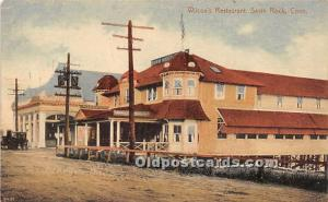 Savin Rock, Connecticut, CT, USA Postcard Wilcox's Restaurant 1911