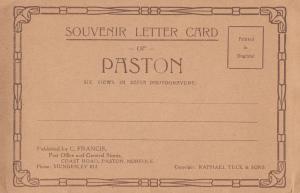 Paston Peterborough Village Souvenir Letter Card Postcard Folding Novelty