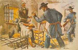 The shackling of Jefferson Davis Fort Monroe, Virginia, USA Civil War Unused