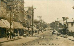 1907 East Palestine Ohio Market Street View Wilkinson Studio RPPC Photo Postcard