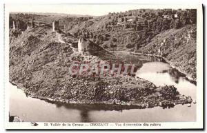 Old Postcard Crozant view D & # 39ensemble Ruins