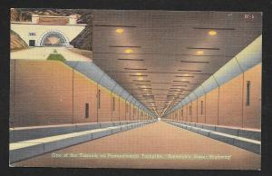 Tunnel View Pennsylvania Turnpike Unused c1940s