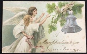 "Used Postcard ""A Merry Christmas To You"" 12/1906 LB"