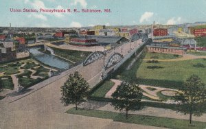 BALTIMORE, Maryland, 1900-1910s; Union Station, Pennsylvania R.R.