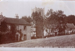 Beoley Church Redditch Worcester Vicarage RPC Old Postcard