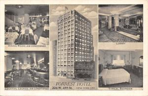 New York City~Forrest Hotel~Inside Out~Guest Room~Lobby~Bar~1939 B&W Lumitone