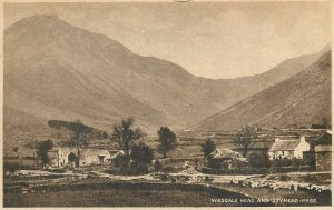 Postcard England Wasdale Head and Styhead Pass picturesque panorama