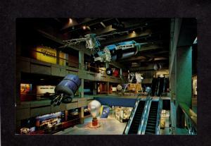 MA Space Gallery Lunar Museum of Science Boston Mass Massachusetts Postcard PC