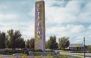 Welcome Sign at Boys Town, Nebraska, 40-60´s