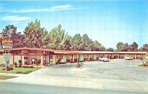 Ocala FL Golden Spur Motel Old Cars Postcard