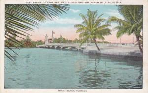 Florida Miami Beach East Bridge Of Venetian Way Connecting The Beach With Bel...
