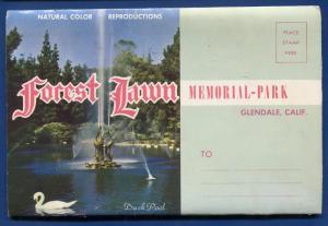 Forest Lawn Memorial Park Glendale California ca postcard folder