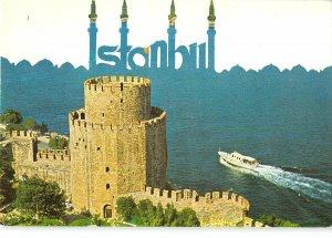 B110311 Turkey Istanbul Rumelihisari Tower Boat Bateau