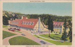 Washington Rainier National Park Paradise Inn 1938 Curteich