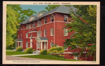 Tennessee colour PC King College, Bristol unused