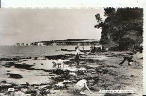 Dorset Postcard - The Beach - Studland - Real Photograph - Ref 16773A