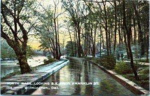 1908 Wilmington DE North Race Looking SE from Frankling Street Postcard DP