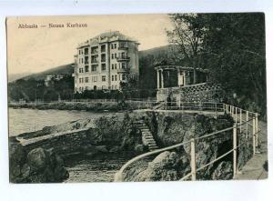 192115 CROATIA Opatija ABBAZIA kurhaus Vintage postcard