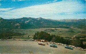 Galena Summit on US Hwy 93 Idaho ID pm 1967 Sawtooth Mountains Postcard