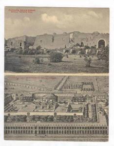 Bi-Fold, Facciata Delle Terme Sulla  Nuova Via,  & Ricostruzione Panoramica D...