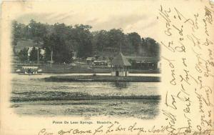 Buffalo News 1908 Meadville Pennsylvania Ponce De Leon Springs Postcard 1508