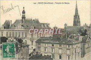 Old Postcard Niort (Deux Sevres) Dungeon taking view