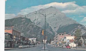 BANFF, Alberta, Canada, PU-1965; Main Street, Showing The Main Business Area
