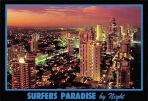 Australia Surfers Paradise by Night, The Gold Coast, Queensland