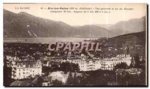 Old Postcard Aix les Bains General View and Lake Bourget