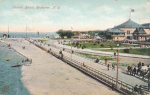 Walkway along Lake Ontario Beach Park - Charlotte, Rochester, New York - DB