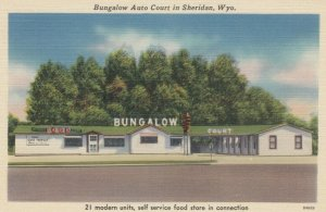 SHERIDAN , Wyoming , 1930-40s ; Bungalow Auto Court