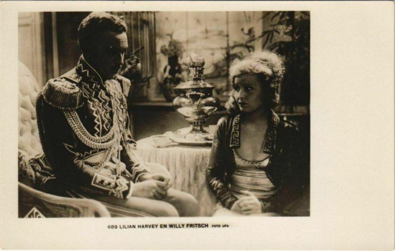 CPA Willy Fritsch-Lilian Harvey FILM STAR (1072185)