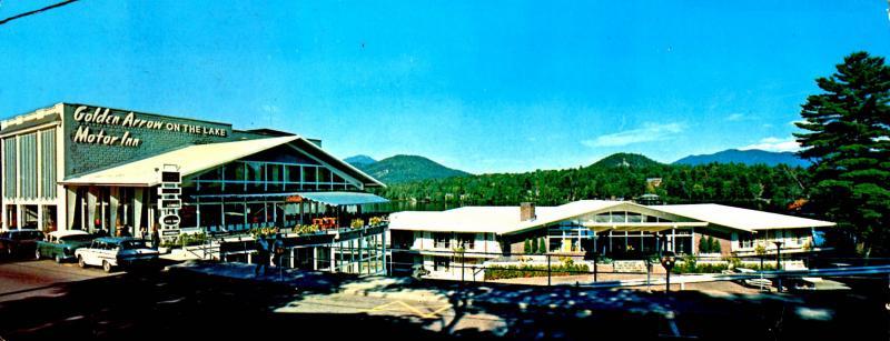 NY - Lake Placid. Golden Arrow Motor Inn (3.5 X 9).