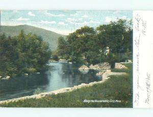 Pre-1907 RIVER SCENE Lee - Near Pittsfield Massachusetts MA AE7030